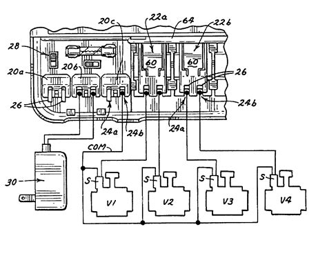 patent us6459959 irrigation controller with removable station modules patents
