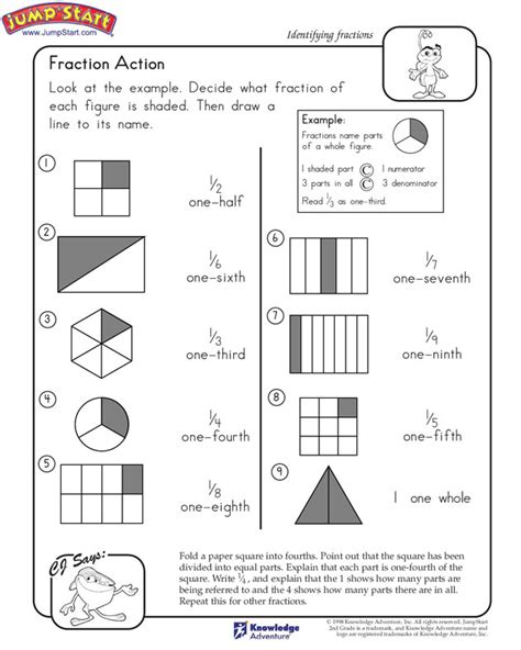 fractions for beginners worksheets maktu
