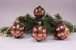 Weihnachtskugeln Aus Lauscha : 4 kugeln 8cm stierglanz kerze christbaumschmuck und ~ Orissabook.com Haus und Dekorationen