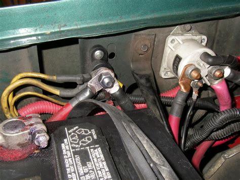 battery ground wiring upgrade  ford bronco forum