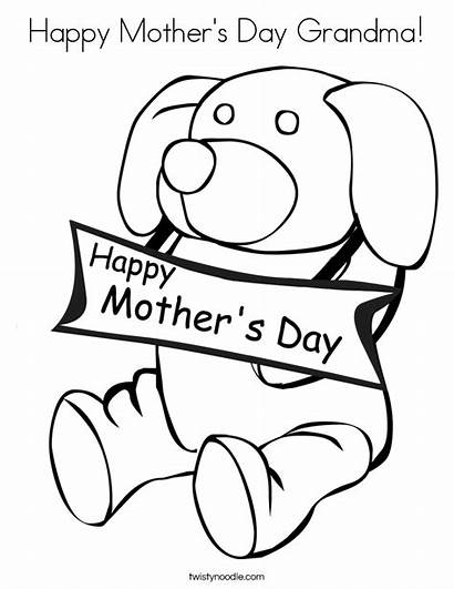 Grandma Coloring Pages Mothers Happy Mother Printable