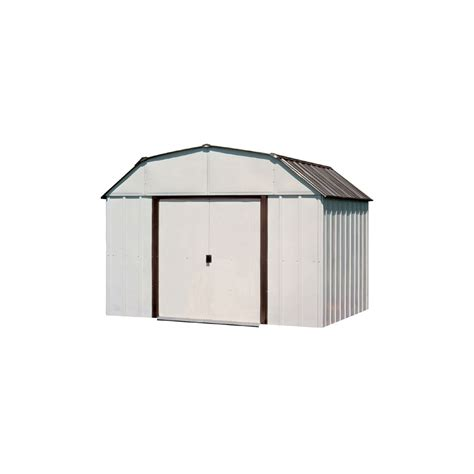 arrow galvanized steel storage shed assembly shop arrow 10 ft x 14 ft galvanized steel storage shed
