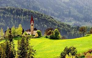 Beautiful Chapel In Mountain HD desktop wallpaper ...