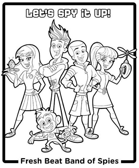 Fresh Beat Band Of Spies Kleurplaat by Fresh Beat Band Of Spies Coloring Pages