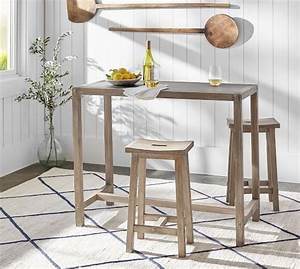 brooklyn counter height table with stools pottery barn With barn board bar stools