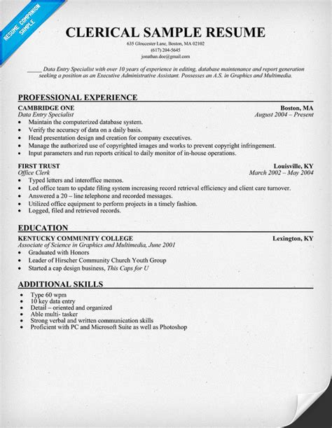 resume objective clerical house cleaning example free house cleaning resume
