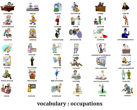 Office Of Professions by Ing 370 2015 2 Occupations And Professions Vocabulary