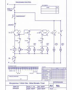 Rangkaian Kontrol Motor Star Delta Otomatis Dengan Timer