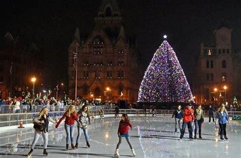 kicking off the season with syracuse s christmas tree