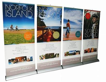 Banners Pull Displays Banner Retractable Roll Stand