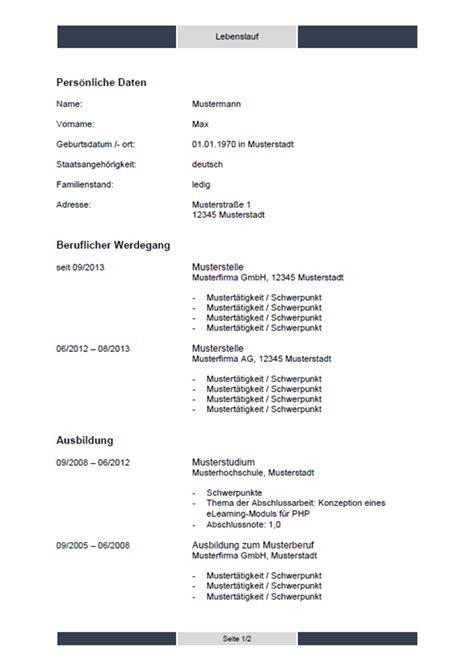 Aktuelle Lebenslauf Vorlage 2016 by Aktuelle Vorlage Lebenslauf 2018