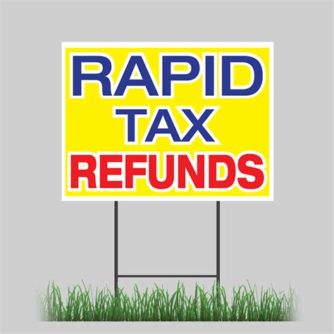 """18""""x24"""" Rapid Tax Refund Yard Sign Tax Season Money Quick. Co Signing Signs Of Stroke. Locker Signs Of Stroke. Ups Signs. White Tongue Signs Of Stroke. Arsenic Poisoning Signs. Minnie Mouse Party Signs. Limb Difference Awareness Signs. Paragraph Signs"""