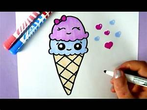 COMMENT DESSINER UNE GLACE KAWAII DESSIN FACILE YouTube