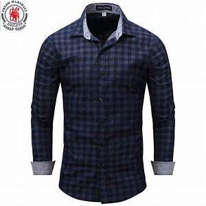 New Arrival Men's shirt Long Sleeve Plaid Shirts Mens ...