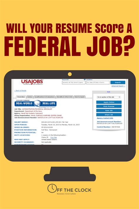Check Resume Score by Will Your Resume Score A Federal
