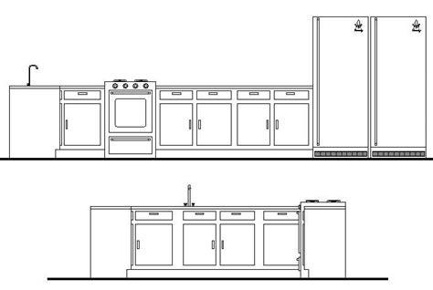 cuisine autocad kitchen units cad block cadblocksfree cad blocks free
