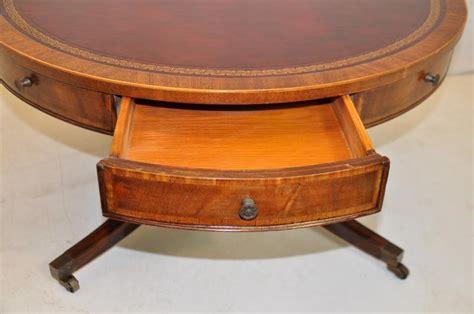 drum style coffee table weiman heirloom regency style inlaid mahogany drum coffee