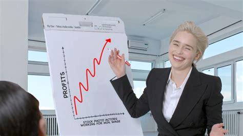 Watch Emilia Clarke Re-creates Stock Photos