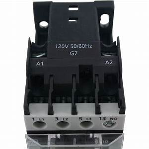 3 Pole Contactor 9 Amp 1 N  O 120 Vac Coil