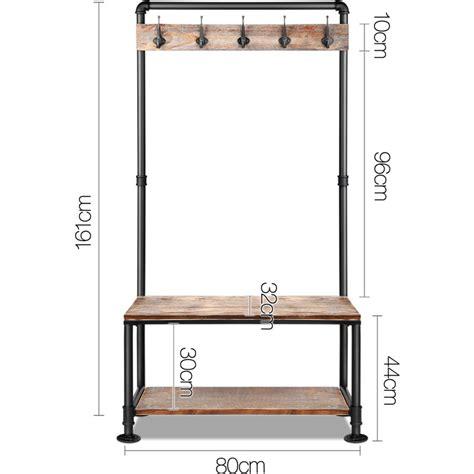 Coat Hanger Bench Coat Hanger Bench Combo Low Wooden Bench
