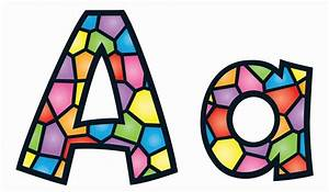 Stained glass alphabet display letters for Display board lettering