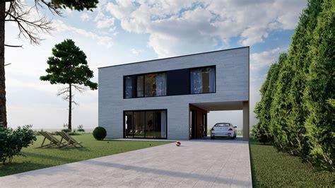 Mājas projekts 7 - 121.32m2 + 71,5m2 auto nojume un terase - SIPMAJA