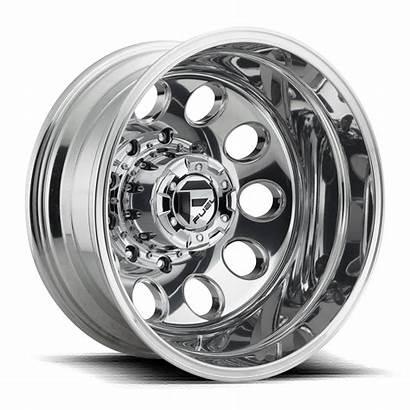 Wheels Dually Rear Lug Fuel Polished Profile