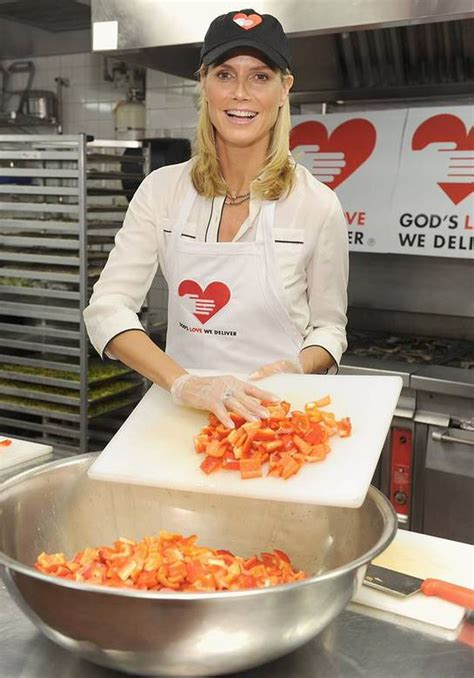 Heidi Klum Helps Feed The Needy Look Stars