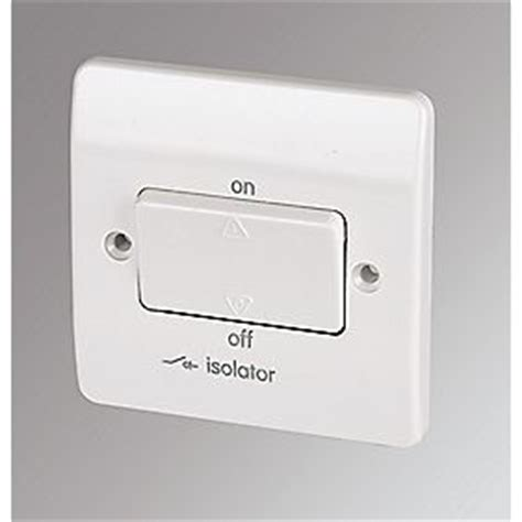 Pole Lockable Fan Isolator Switch White