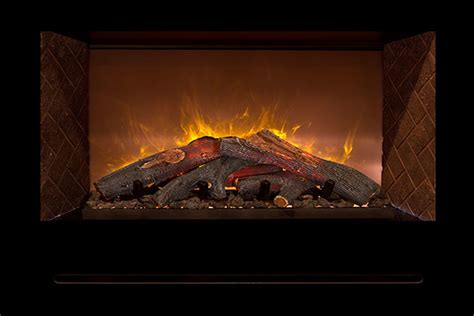 realistic electric fireplace modern flames