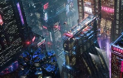 Cyberpunk 2077 Neon Night Future Concept Erik