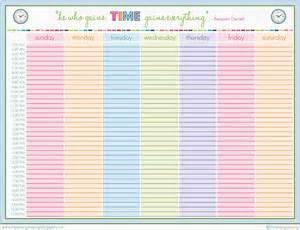 4 weekly schedule printable ganttchart template