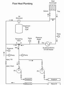Power G  Solar Heating Plumbing Diagram Details