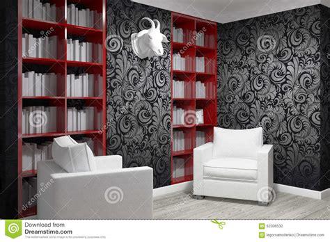 poltrone da studio stanza di studio con due poltrone illustrazione di stock