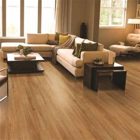 HomeTrends Honey Maple Click Laminate Flooring available
