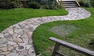 Garden path stones, stone pathway ideas flagstone stepping