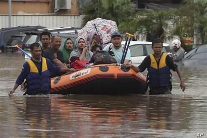 Indonesia Jakarta Flooding Floods Flooded Rescue Team