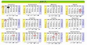 Calendário 2017 com feriados nacionais 2019 2018
