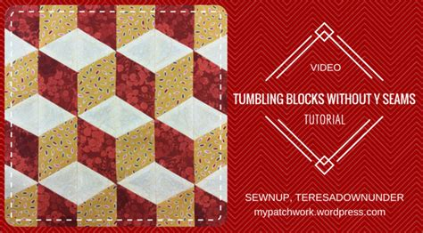 tumbling block quilt pattern template video tutorial tumbling blocks with no y seams sewn up