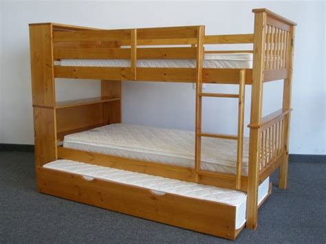 Save On Twin Over Twin Bookcase Bunk Bed With Twin Trundle