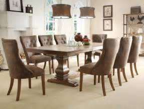 8 Piece Contemporary Dining Room Set Dark Brown Wood by 9 Piece Dining Room Sets Classy Casual Style Kitchen