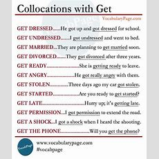 Collocations With Get  Vocabulary Home