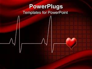 powerpoint template electrocardiogram wave lines with With cardiac ppt template