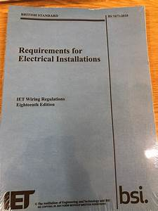 18th Edition Wiring Regulations Book