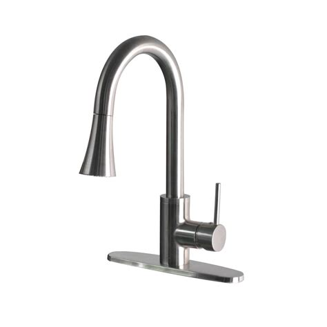 modern kitchen faucets stainless steel belle foret modern single handle pull down sprayer kitchen faucet in stainless steel ss