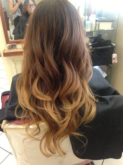 dark brown hair with light brown ombre black brown blonde ombré yelp