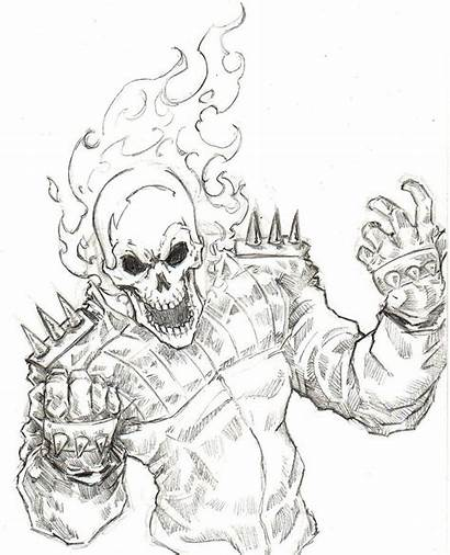 Coloring Ghost Rider Pages Popular