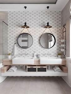 les 25 meilleures idees de la categorie salles de bains With salle de bain design avec plaque décorative métal