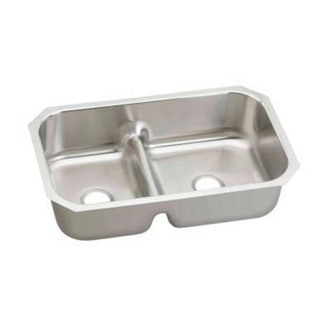 elkay stainless steel kitchen sinks elkay gourmet undermount stainless steel 35 in 8866