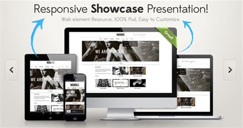 responsive showcase psd psd web elements pixeden